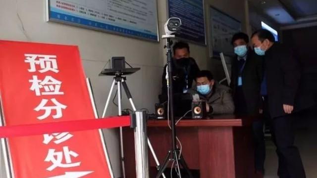 红外人体测温仪省时省力,瞬间测温助力宿迁人民医院疫情防控