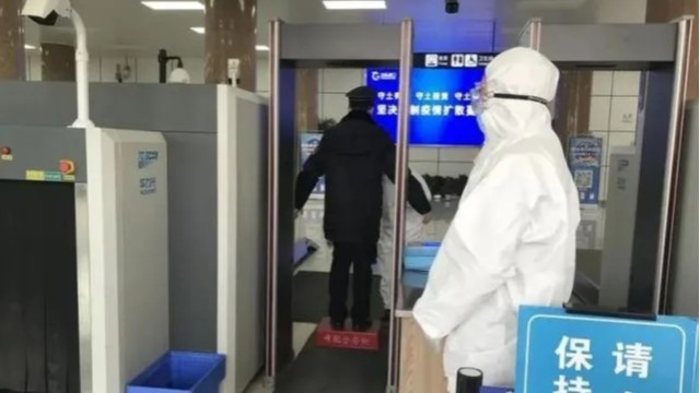疫情防控不放松,测温安检门保障旅客出行安全