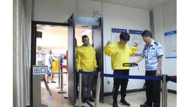黄冈市公安局交警支队安装通过式金属检测门严把驾驶员考试入口关